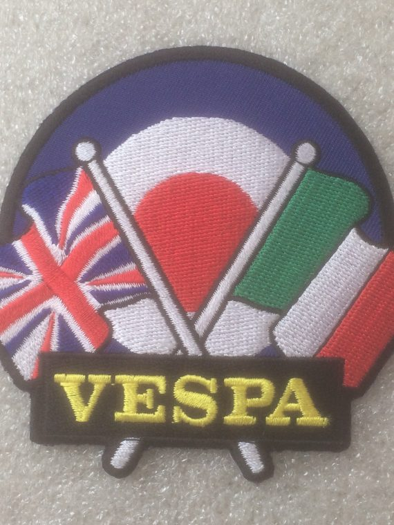 Vespa Double Flag On Target Design Patch