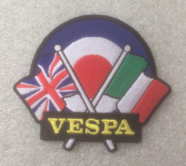 Vespa Double Flag On Target Design Patch