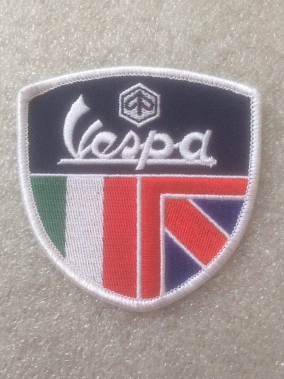 Vespa - Italian & Union Jack Flag Shield Design