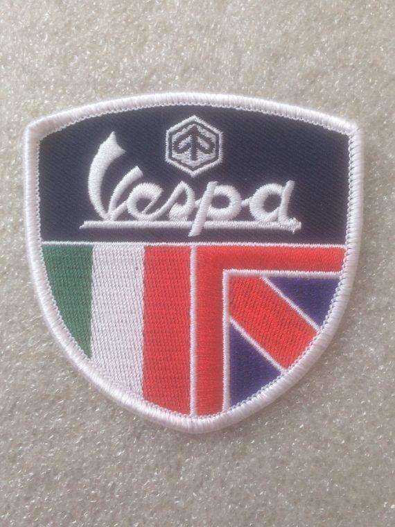 Vespa – Italian & Union Jack Flag Shield Design
