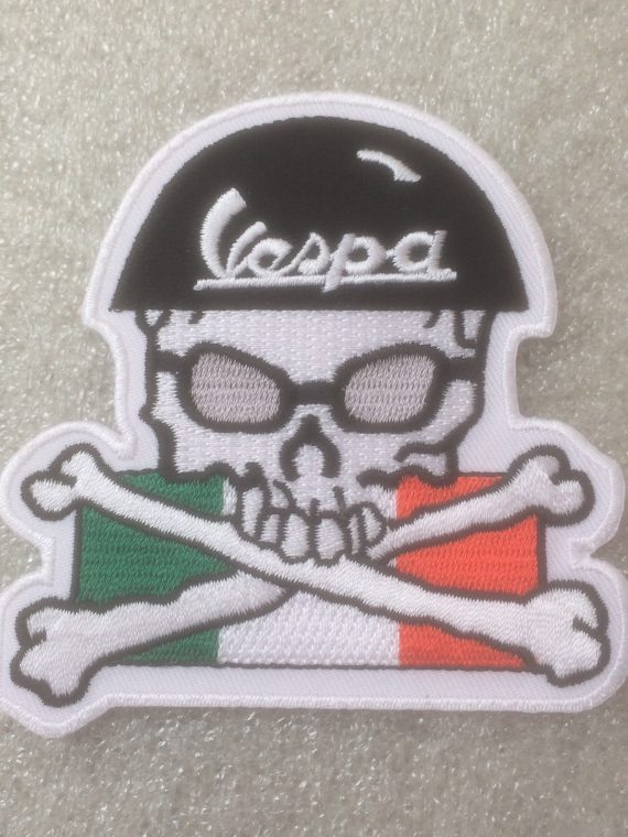 Vespa - Skull & Cross Bones Design Patch