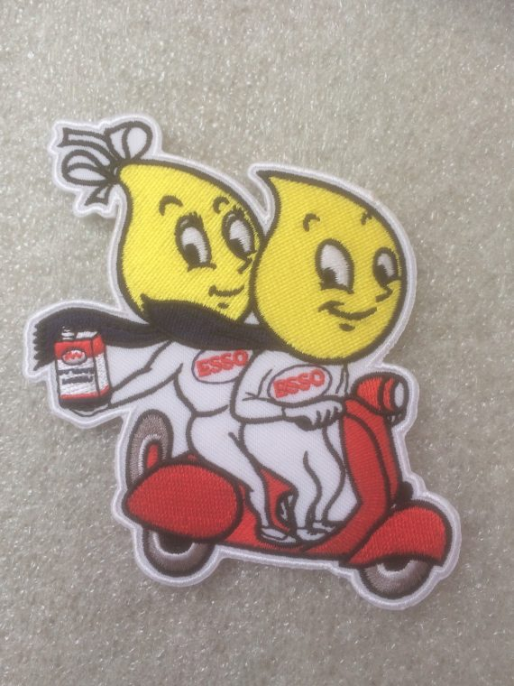 Esso Couple on a Scooter design patch