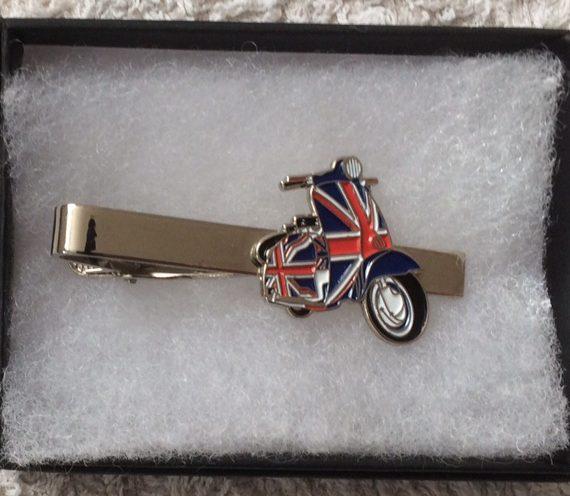 Lambretta union jack tie clip
