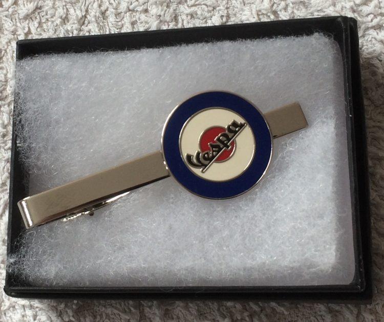 Vespa round target tie clip