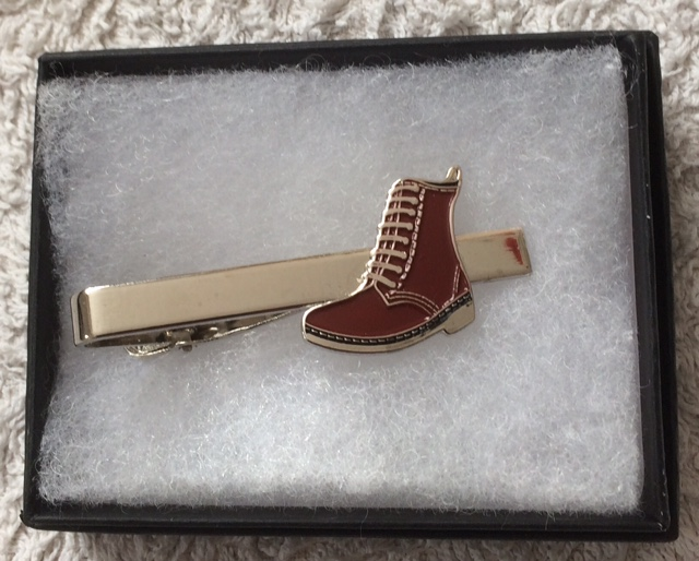 Red boot tie clip