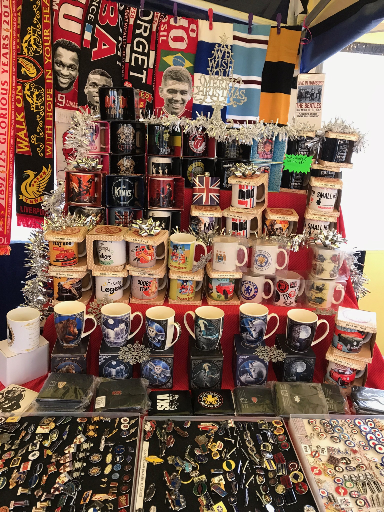 A WIDE RANGE OF MUGS AVAILABLE FROM ME AT THE CHRISTMAS MARKETS