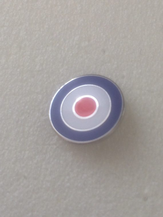 15mm Classic Mod Target Design Enamel Badge