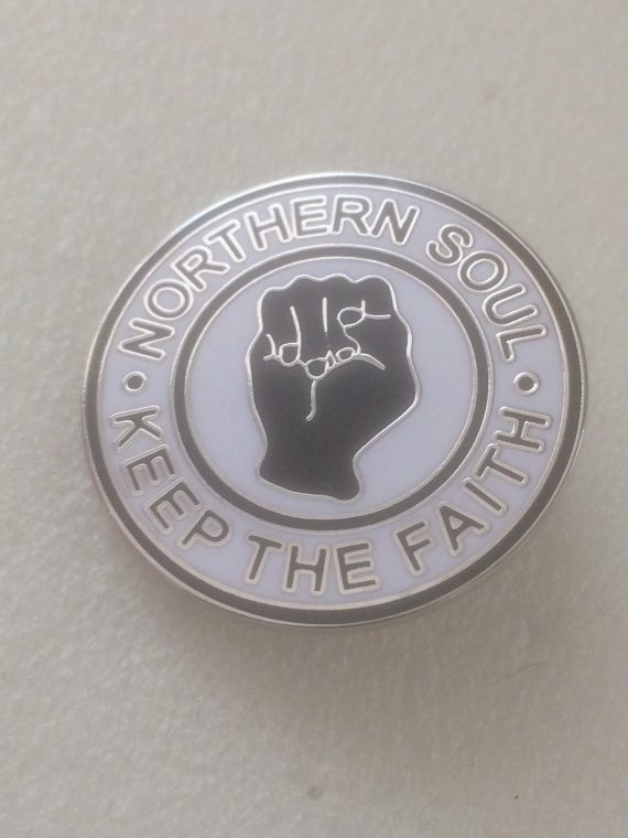 Northern Soul – Keep The Faith – Enamel Badge (2)
