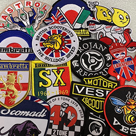 Iron or Sew On Embroidered Scooter Patches